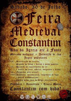 Feira Medieval de Constantim 2016 Event Ticket, Medieval Fair, Posters, Advertising