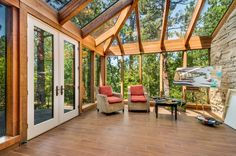 There's no shortage of inspiration on this glassed-in sunporch.