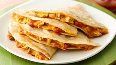 Kids will never know there are veggies in these chicken quesadillas. Just add a pouch of Green Giant® Veggie Blend-Ins™ 100% butternut squash purée into the cheese of your choice! To learn more about Green Giant®Veggie Blend-Ins™, visit Veggie Blend-Ins.com.
