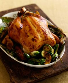 I found the secret to a perfect roasted chicken. Oven 425°, bottom rack, after 20 minutes pour in 1 cup water or broth, cook for approximately 40 more minutes. Remove when deep golden brown. Crispy outside, tender inside...chicken perfection!