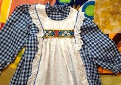 70s Gingham Maxi Dress 4T by lishyloo on Etsy, $18.00