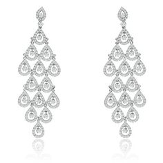 """Tears of joy as you walk down the aisle and look like a million dollar bride with these beautiful pair of earrings. Perfectly hand set with TOP quality CZ and made in genuine Sterling Silver with a Rhodium finish.   www.Catalystjewelry.com """"Shop for a Cause"""""""