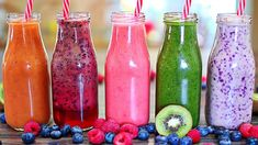 5 Fantastic Healthy Smoothies Are you thinking smoothies? I have 5 Fantastic Smoothies for you that will fulfill your every smoothie craving! These healthy smoothie recipes are sure to make you enjoy all the natural freshness. Smoothie Recipes For Kids, Smoothies For Kids, Easy Smoothies, Shake Recipes, Breakfast Smoothies, Weight Loss Smoothies, Fruit Smoothies, Pastas Recipes, Smoothie Mix