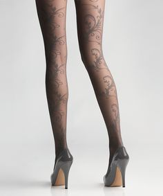 Look at this After Dark Feather Tights by Via Spiga Women's Couture Fashion, Women's Fashion, Designer Tights, Sheer Tights, Grey Tights, Silk Stockings, Stocking Tights, Fashion Tights, Pantyhose Legs