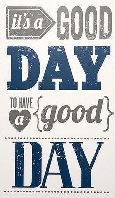 Gray & Navy 'Good Day' Wall Art