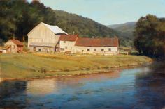 portfolio of the oil landscape paintings and prints of artist John MacDonald of the Berkshires in Williamstown Massachusetts. Scenery Paintings, Cool Paintings, Landscape Art, Landscape Paintings, John Mcdonald, Building Structure, Artist At Work, Contemporary Art, House