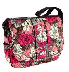 Vera Bradley Messenger in Mocha Rouge/browns & pinks New with tags Free Shipping $65