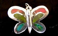 Pingente borboleta em prata 950