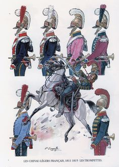 French trumpeters of the lancers of the line, the Napoleonic wars Military Art, Military History, Empire, War Drums, Waterloo 1815, Dragons, French Army, Mystery Of History, Napoleonic Wars