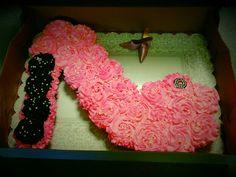 Cupcakes made into a high heel shoe!!!