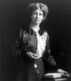 Emily Pankhurst, 1858 – 1928, British political activist and leader of the British suffragette movement who helped women win the right to vote