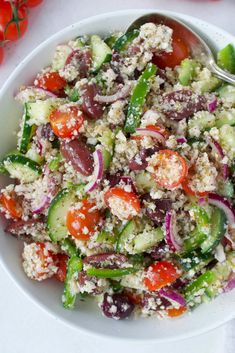 What Is Cauliflower, Cauliflower Rice Salad, Cauliflower Dishes, Vegan Whole30 Recipes, Healthy Recipes, Healthy Meals, Healthy Food, Paleo, Risotto Recipes