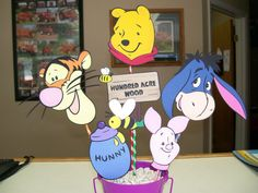 Winnie the Pooh Birthday Party Centerpiece on Sale by CSCuteCrafts, $22.00