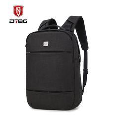 DTBG Laptop Backpack 15.6 17.3 Inch Waterproof Nylon Knapsack for Business Travel Fashion Durable Rucksack