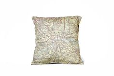 Vintage map London cushion from Salmon and Moth.