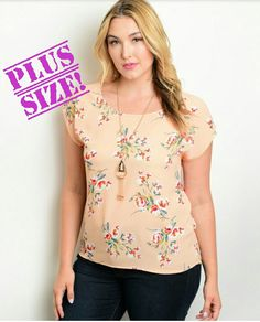 $18.00  PLUS SIZE: Floral Print Relaxed Fit Top With Round Neckline     | Shop this product here: spreesy.com/StyledClassy/19 | Shop all of our products at http://spreesy.com/StyledClassy    | Pinterest selling powered by Spreesy.com