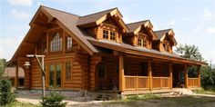 Ranch Style Log home.. YES please please please!!!!!!!!!!!!!