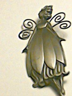 Vintage Hallmark Pewter Fairy Brooch