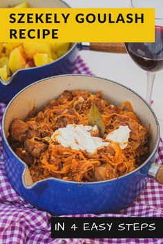 Szekely goulash is Hungarian pork and sauerkraut stew. This dish is a variety of goulash – the synonym for the Hungarian traditional cuisine. Szekely goulash is a somewhat unusual dish that does not follow the basic rules of traditional goulash preparation. Unlike traditional goulash, its main ingredient is pork, with sauerkraut and cream added. #SzekelyGoulash #Hungarianpork #sauerkrautstew #dish #recipes #food #Europefood #homestaple #HungarianCuisine #Hungarianrecipes