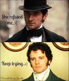 Mr. Thornton taking Mr. Darcy's advice 😂