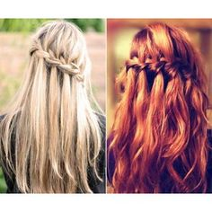 Waterfall braid - I want my hair long.. so I can do this!