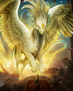 Fantasy blog #fantasy feathers creature mount wings