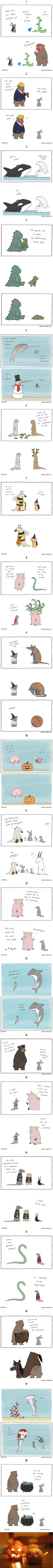 Animals Celebrating Halloween