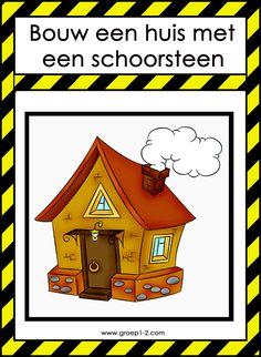 Bouwhoek: Thema Piet/Huis met schoorsteen