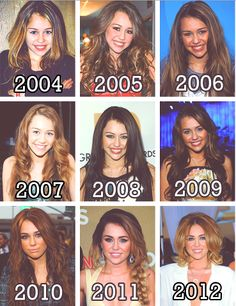 Miley Cyrus.... beautiful all those years.... especially from 2010.