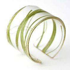 Recycled Resin Bracelet - Seaweed - Green