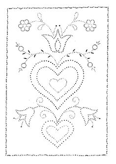 Folk Embroidery Patterns Tin Punch Patterns :: P 1030 Folk Art No. 3 or 12 x 24 - Pierced Tin Designs - This charming pierced tin pattern in available in and x (not shown)size.Tools recommended to complete this Please note: Embroidery Cards, Folk Embroidery, Learn Embroidery, Vintage Embroidery, Embroidery Stitches, Embroidery Patterns, Doily Patterns, Craft Patterns, Punched Tin Patterns
