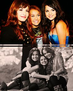 Demi Lovato And Selena Gomez And Miley Cyrus   Added: Apr 09, 2012   Image size: 500x622px   Source: lovemileysmile ...