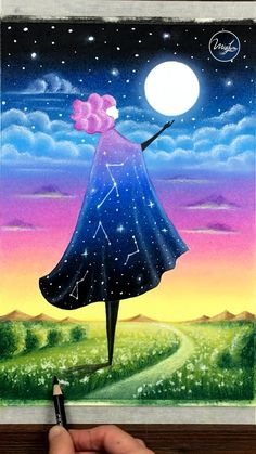 Oil Pastel Drawings Easy, Oil Pastel Art, Oil Pastels, Art Drawings Beautiful, Cool Art Drawings, Watercolor Art Lessons, Art Painting Gallery, Diy Canvas Art, Drawing Tutorials
