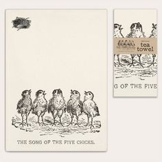Song of the Five Chicks Tea Towel - CTW Home Collection