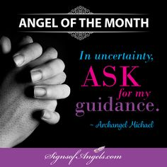 "Instead of ""reacting"" during uncertain times, take some quiet time and ask for guidance. Archangel Michael is waiting to help. Ask."