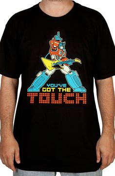 Transformers You've Got The Touch T-Shirt: Stan Bush Song 1986 Movie