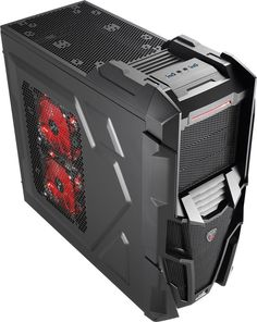 Amazon.com: AeroCool Ultra Mid Tower Cases Mechatron-Black Steel Edition Red: Computers & Accessories