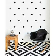 Graphique-Chic avec les stickers carrés noirs Pöm