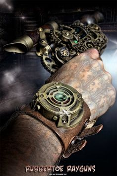Fully Functioning Scifi Steampunk Watch  Tan by rubbertoerayguns, $129.95   (I want this sooo much) Maybe Christmas bonus.....