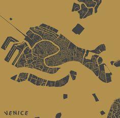 Venice map Art Print