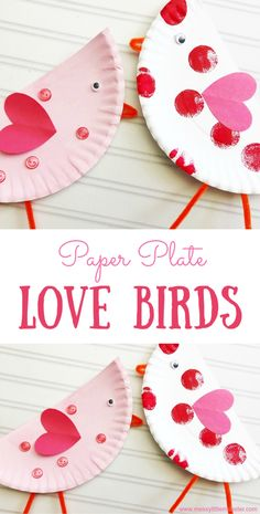Kids will have so much fun making this love birds craft! This easy paper plate craft makes the perfect Valentine's Day craft for kids. Paper Plate Crafts For Kids, Valentine's Day Crafts For Kids, Valentine Crafts For Kids, Christmas Crafts For Kids, Toddler Crafts, Preschool Crafts, Holiday Crafts, Art For Kids, Paper Crafts