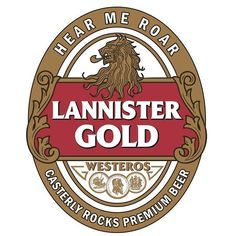 Game of Thrones Beer - Lannister