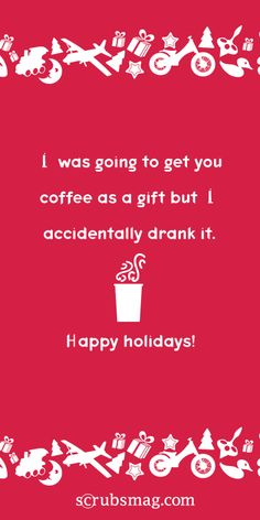 Holiday eCards for Nurses! #HappyHolidays #nursing #coffee