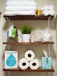 Maximize on Storage to Make your Bathroom Comfortable #bathroom #bathroomstorage #bathroomdesign #bathroomdecor #bathroomshelves #bathroomcabinet #bathroomhooks