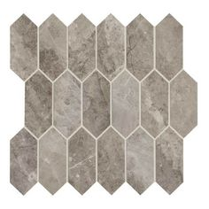Daltile Crux Marble Attache - x Linear Hexagon Mosaic Wall Tile - Unpolished Marble Visual Dal Tile, Flush Doors, Mosaic Wall Tiles, Thing 1, Edge Design, Porcelain Tile, Marble, Flooring, Color