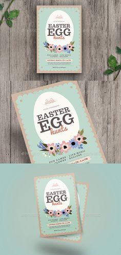 Easter Egg Hunt Flyer  Flyer Template Easter And Egg
