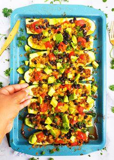 Easy Cheesy Taco Stuffed Zucchini Boats - Beautiful Eats & Things