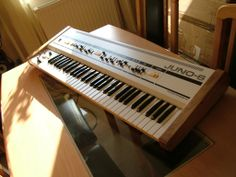 Custom Roland Juno-6 Electronic Music Instruments, Musical Instruments, Roland Juno, Midi Keyboard, Recording Equipment, Drum Machine, Audio Sound, Sound Waves, Sound Effects
