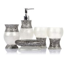 lagute 5 pc imperial design resin elegant luxury bathroom accessory supplies set accessories luxury bathroom