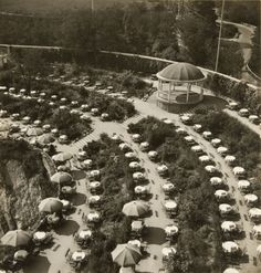 Cafe at Barrandov Terrace in Prague, Josef Ehm 1936 Japan Garden, History Of Photography, Beautiful Places In The World, Bratislava, Street Photo, Back In The Day, Czech Republic, Prague, City Photo